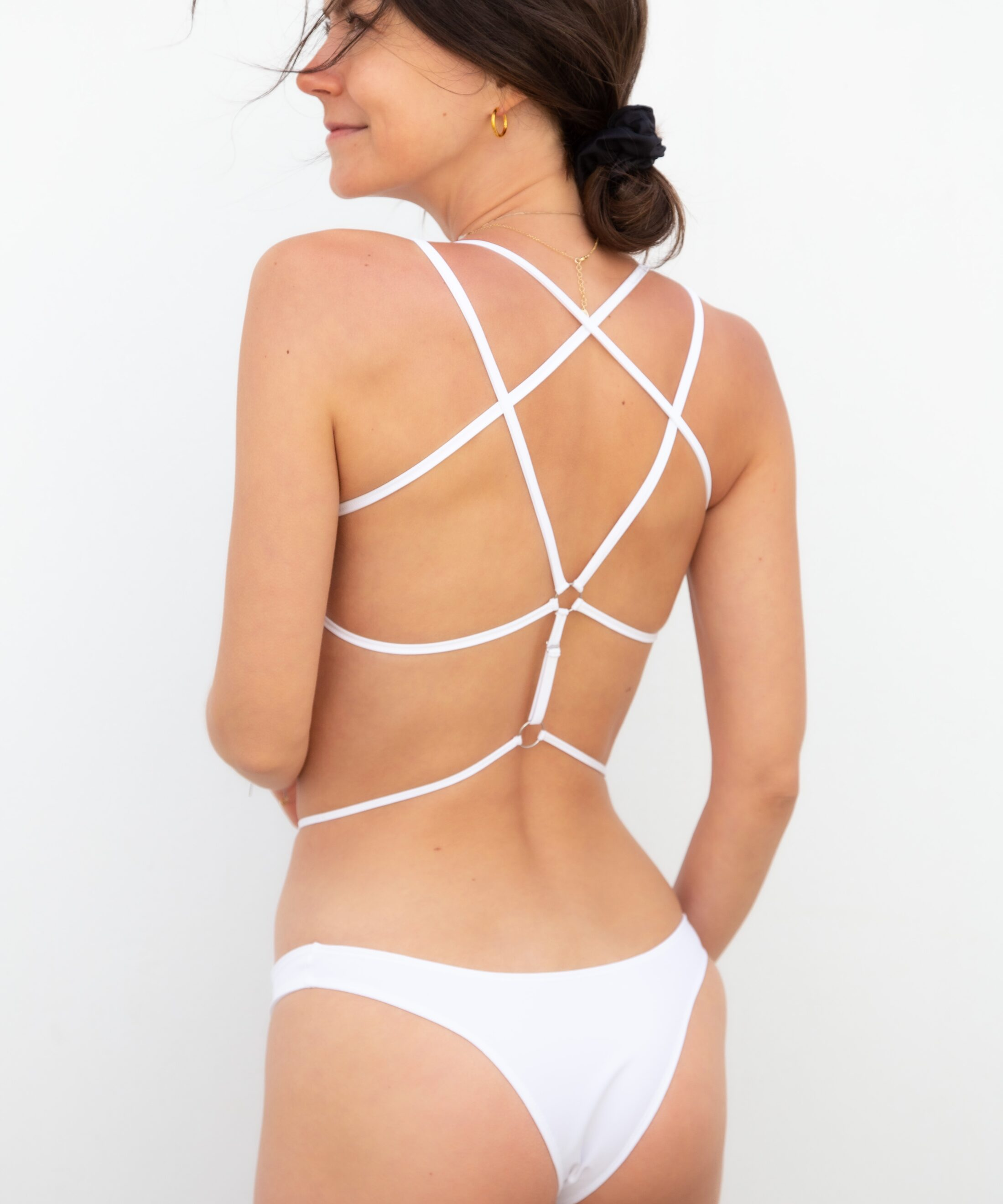 Piwari Sustainable Swimwear Bikini Maia White