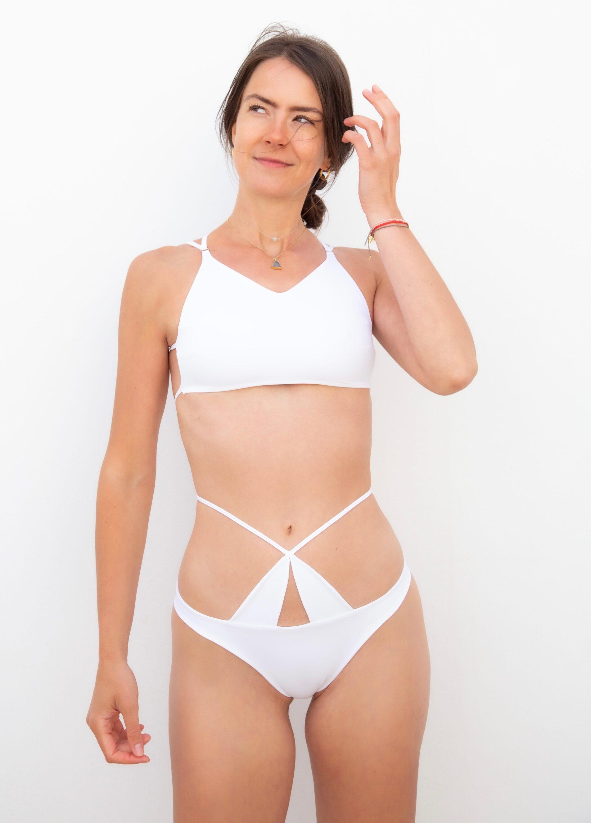 Piwari Sustainable Swimwear Bikini Maia White