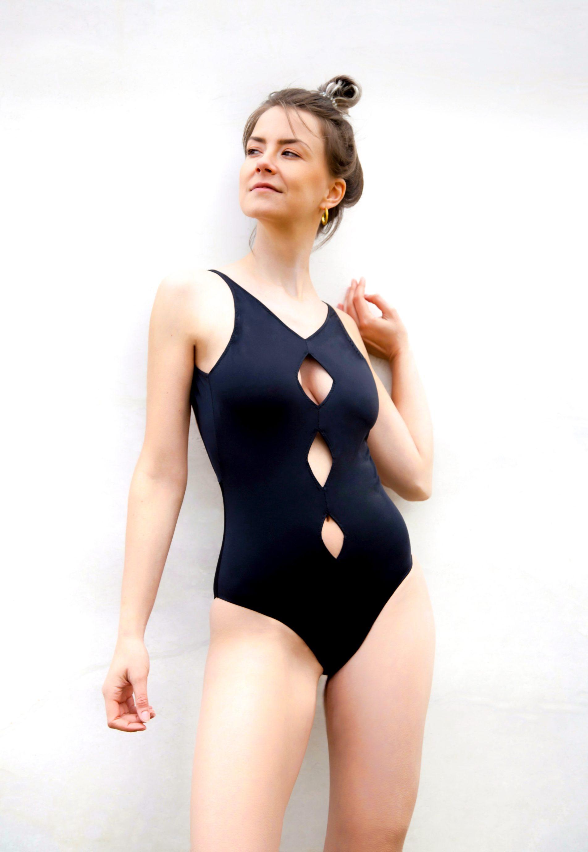 Piwari Sustainable Swimwear Swimsuit Lahiri Cutouts