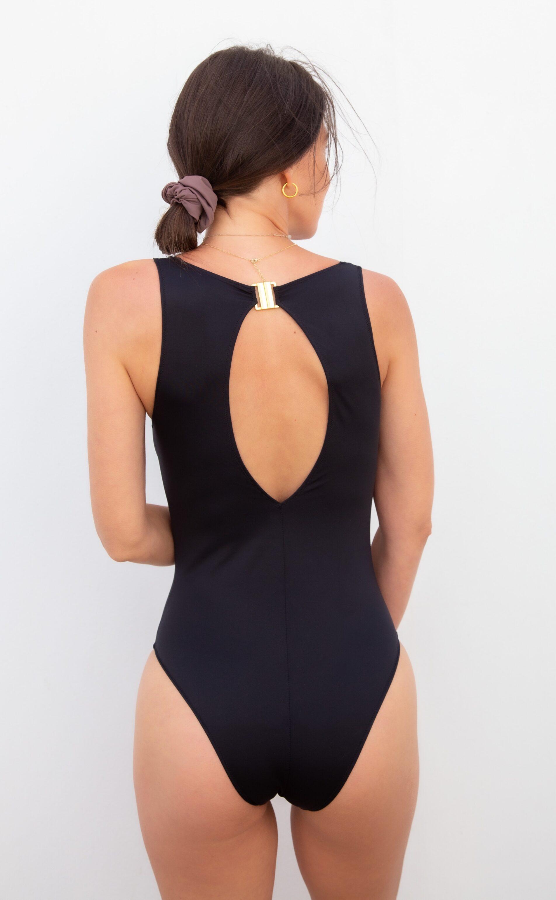 Piwari Sustainable Swimwear Ela Swimsuit Black