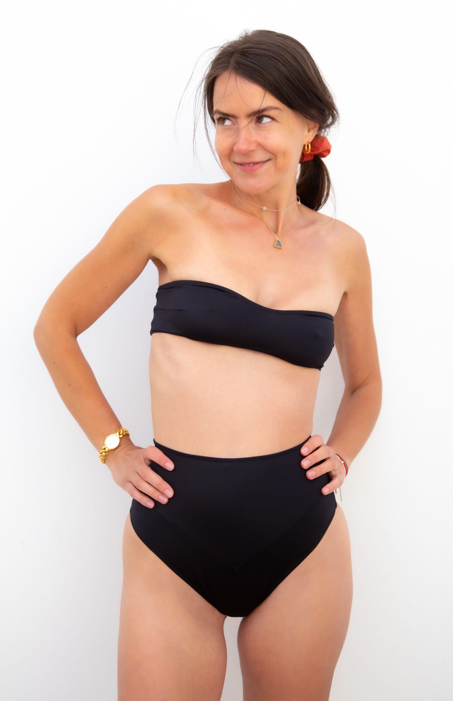Piwari Sustainable Swimwear Empress Bikini Black